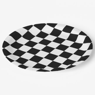 Classic Checkered I Bleed Racing Check Black White Paper Plate  sc 1 th 225 & Black And White Checkered Racing Plates | Zazzle