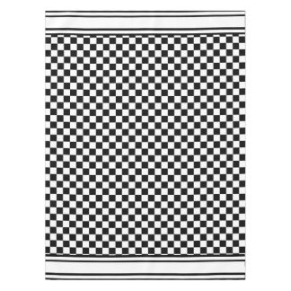 classic checkered i bleed racing check black white tablecloth