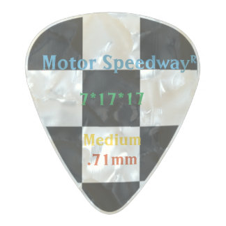 Classic Checkered Racing Check Black and White Pearl Celluloid Guitar Pick