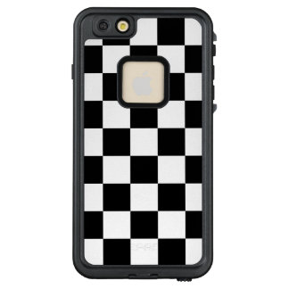 Classic Checkered Racing Check Black White Sport LifeProof® FRĒ® iPhone 6/6s Plus Case