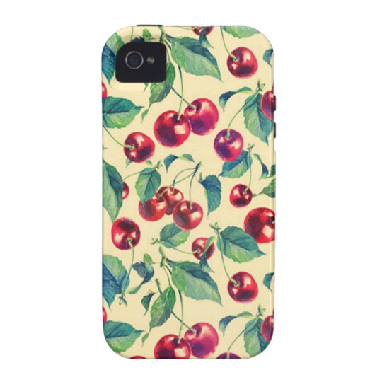 Classic cherries pattern. case for the iPhone 4