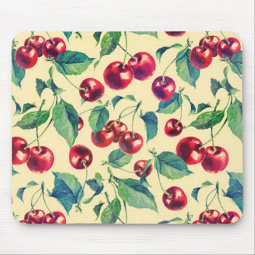 Classic cherries pattern. mouse pad