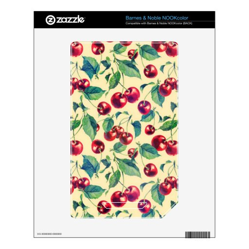 Classic cherries pattern. NOOK color skins