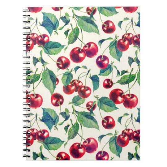Classic cherries pattern. notebook