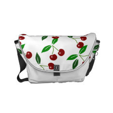 Classic Cherry Fruit and Leaf Messenger bag 1 at Zazzle