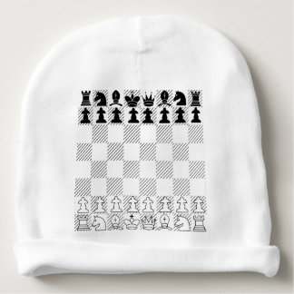 Classic chess board baby beanie