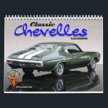 """Classic Chevelles Calendar<br><div class=""""desc"""">Chevrolet Chevelle muscle cars in a 12 month calendar. Classic Chevelles from days gone by.</div>"""
