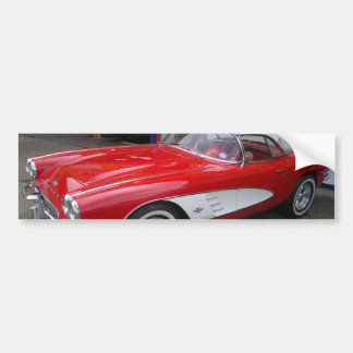 Classic Chevrolet Corvette Bumper Sticker