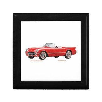 Classic_Chevrolet_Red_Corvette Cajas De Recuerdo