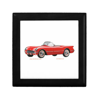 Classic_Chevrolet_Red_Corvette Trinket Box