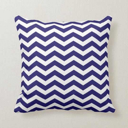 Classic Chevron Cobalt Blue and White Throw Pillow Zazzle