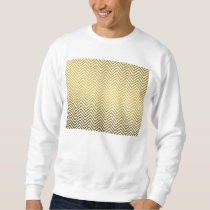 Classic Chevron Gold Metal Pattern Sweatshirt