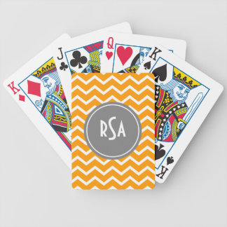 Classic Chevron Gray-Choose Your Background Color Bicycle Playing Cards
