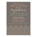 Classic Chevron Grey Bridal Shower Invitation