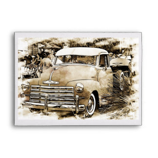 Classic Chevy Chevrolet Truck Envelope