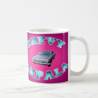 Classic Chevy Impala Car Mug. Basic White Mug