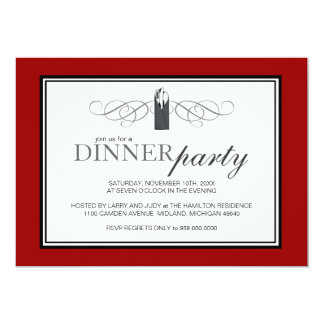 Classic Chic Dinner Party Invitations