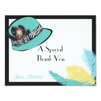Classic Chic Hat with Feathers Note Card 2