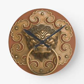Classic Chinese Lion Wall Clock