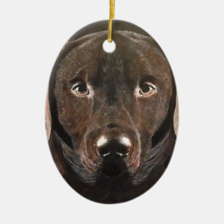 Classic Chocolate Labrador Ceramic Ornament