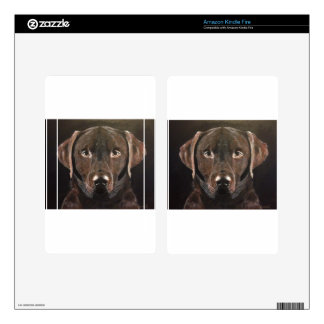 Classic Chocolate Labrador Decal For Kindle Fire