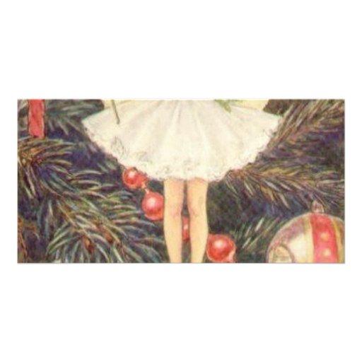 Classic Christmas Angel Photo Card