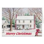 Classic Christmas Farm House Card