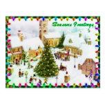 Classic Christmas greeting postcards