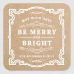 Classic Christmas | Holiday Gift Tag Labels Square Sticker