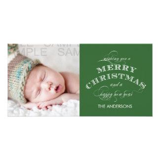 CLASSIC CHRISTMAS PHOTO CARD GREEN