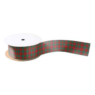 Classic Christmas Plaid Pattern Satin Ribbon