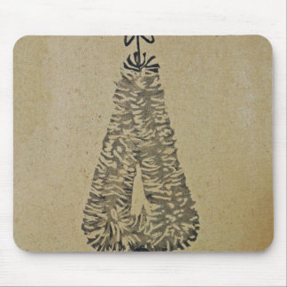 Classic Christmas Tree Backdrop Mouse Pad
