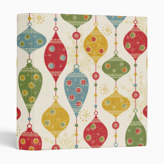 Classic Christmas Tree Holiday Gift 3 Ring Binder