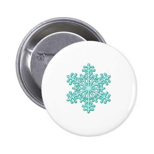 Classic Christmas Winter Snowflake 2 Inch Round Button