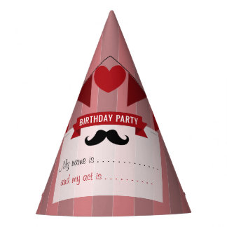 Classic Circus Poster Children's Birthday Party Hat