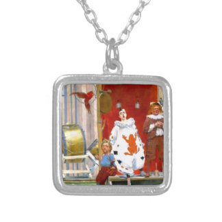 CLASSIC CIRCUS SCENE SILVER PLATED NECKLACE