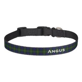 Classic Clan Gunn Tartan Plaid Custom Dog Collar
