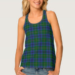 Classic Clan Johnstone Johnston Tartan Plaid Tank Top