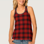 Classic Clan MacIver Red Black Tartan Plaid Tank Top