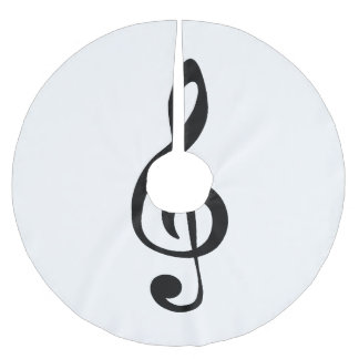 Classic clef brushed polyester tree skirt