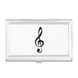 Classic clef business card case