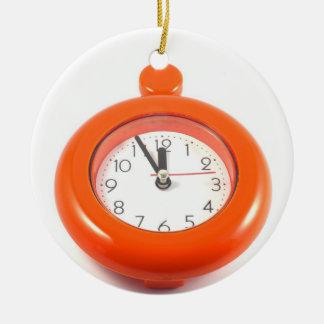 Classic clock ceramic ornament