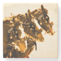 Classic Clydesdale marble Stone Coaster