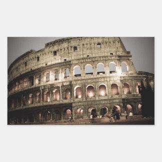 Classic coliseum rectangular sticker