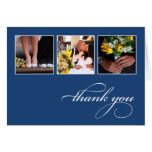 CLASSIC COLLAGE   WEDDING THANK YOU CARD