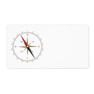 Classic compass label