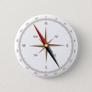 Classic compass pinback button