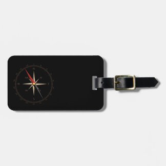 Classic compass travel bag tags