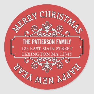 Classic Contemporary Merry Christmas Label