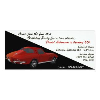 Classic Corvette Birthday Party Invitation